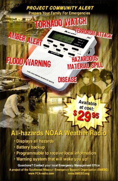NOAA Weather Radio Advertisement